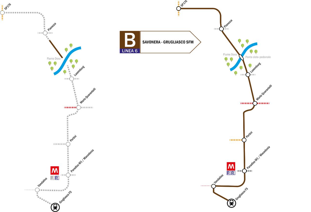 Linea 6 Grugliasco Stazione Savonera Biciplan Di Collegno To